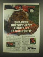 1985 Snapper Thatcherizer Ad - Doesn't Just Thatch It