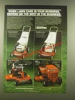 1985 Snapper Lawn Mowers Ad - Depend on The Best