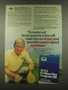 1985 Scotts 23-3-3 Fertilizer Plus Fungicide VIII Ad