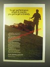 1985 Gravely Mower Ad - Performance Where it Counts