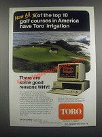 1985 Toro VT3 Video Central Irrigation Controller Ad - Golf Courses