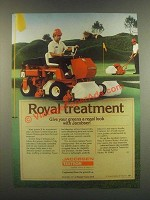 1985 Textron Jacobsen Greens King IV & Greens Mower Ad