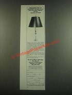 1985 Woodrow Wilson Gift Shop Baldwin Georgian Lamp Ad