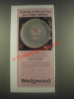 1985 Wedgwood Valentine's Plate Ad - Pink and Grey