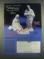 1985 Hamilton Collection Boehm First Noel Nativity Ad