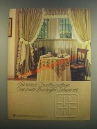 1985 Burlington Draperies Ad - The Mood Country Cottage