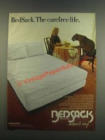 1985 Bedsack Bedclothing Ad - The Carefree Life