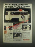 1985 Singer Ad - Stylist Machine 6233, Debutante 6212
