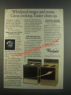 1985 Whirlpool Ranges and Ovens Ad - Great Cooking