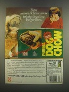 1985 Purina Dog Chow Ad - A More Delicious Way