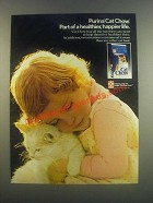 1985 Purina Cat Chow Cat Food Ad - Healthier, Happier