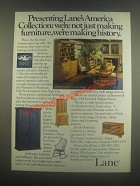 1985 Lane America's Collection Furniture Ad - History