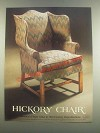 1985 Lane Hickory Chair James River Collection Ad
