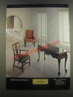 1985 Century Furniture Ad - Elegant Graceful Timeless