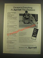 1985 Syracuse Marriott Ad - Escape to Everything
