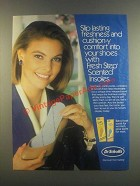 1985 Dr. Scholl's Fresh Step Scented Insoles Ad
