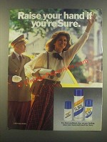 1985 Sure Deodorant Ad - Raise Your Hand