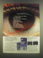 1985 Alcon Opti-Zyme Enzymatic Cleaner & Opti-Clean Ad
