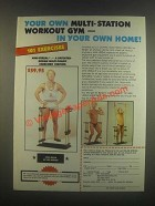 1985 Mini-Versal Rowing Exerciser Ad - Ike Berger