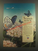 1985 Chevron Oil Ad - The Butterfly and the 747