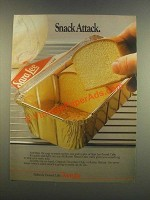 1985 Sara Lee Pound Cake Ad - Snack Attack