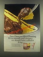 1985 Duncan Hines Frosting Ad - Smooth and Creamy