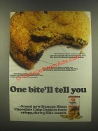 1985 Duncan Hines Chocolate Chip Cookies Ad - Tell You