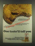 1985 Duncan Hines Chocolate Chip Cookies Ad - One Taste