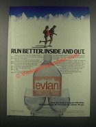 1985 Evian Water Ad - Run Better Inside and Out