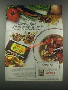 1985 Knorr Homestyle Soup Hearty Minestrone Ad
