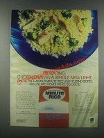 1985 Minute Rice Ad - Chicken Divan Recipe
