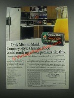 1985 Minute Maid Country Style Orange Juice Ad