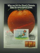 1985 Hunt's Tomato Sauce Ad - Own Sweet Time