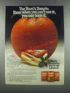 1985 Hunt's Tomato Sauce Ad - Can't See It