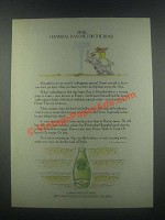 1985 Perrier Water Ad - Hannibal Has One for the Road