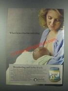 1985 Gerber Baby Food Ad - Better Than Breastfeeding