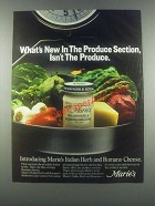 1985 Marie's Italian Herb and Romano Dressing Ad