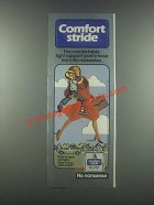 1985 No Nonsense Comfort Stride Light Support Panty Hose Ad