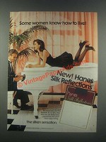 1985 Hanes Silk Reflections Pantyhose Ad - How to Live