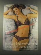 1985 Maidenform Sweet Nothings Bra & Bikini Ad