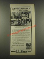 1985 L.L. Bean Ad - Customer Service