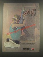 1985 Reebok Charisma Shoes Ad - Not Spectator Sport