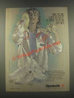 1985 Reebok Classic Leather, Charisma, Phase I Shoes Ad