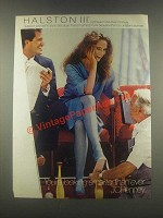 1985 JCPenney Halston III Light Support Pantyhose Ad