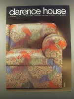 1985 Clarence House Mongolia Fabric Ad