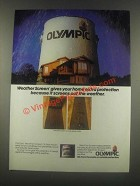 1985 Olympic Weather Screen Oil Stain Ad - Protection