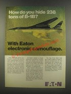1985 Eaton Defensive Electronics System Ad - B-1B