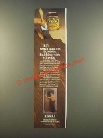 1985 Minwax Wood Finish Ad - If It's Worth Starting