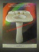 1985 Sherle Wagner Sink and Faucets Ad - Flying Colors