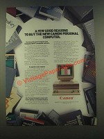 1985 Canon Personal Computer Ad - A Few Good Reasons
